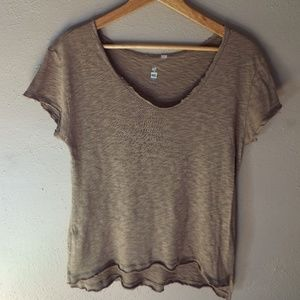 Sheer Tan High-Low Tee